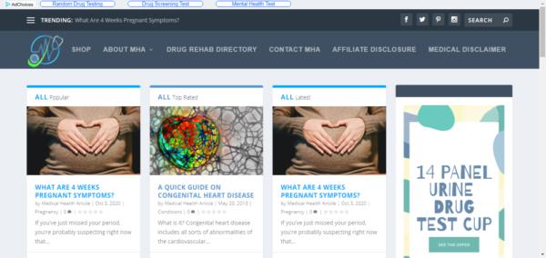 medical health articles